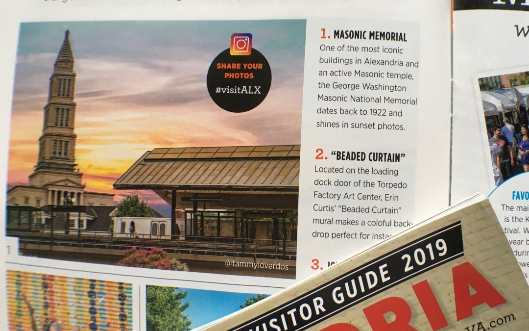 "Photo featured in ""Alexandria – The Official Visitor Guide 2019"""